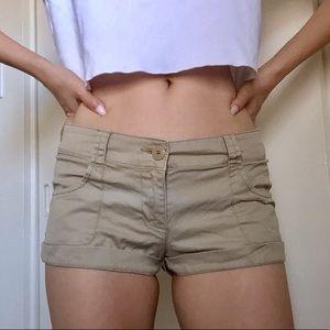 🌵Mossimo khaki short shorts